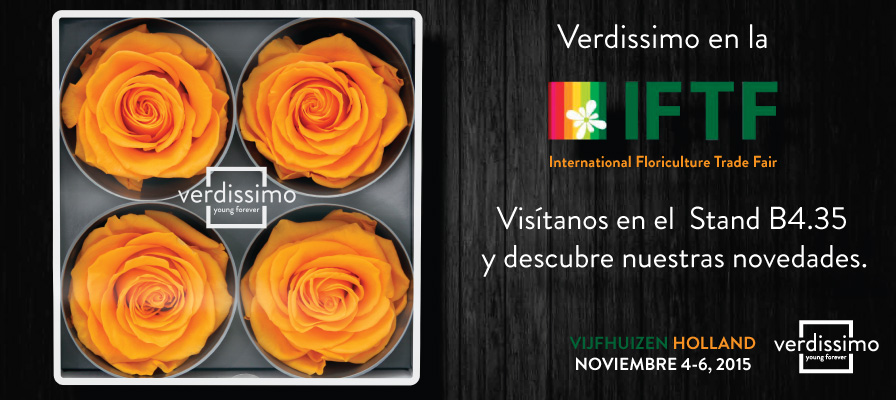 Verdissimo will attend the IFTF in Holland in November - Verdissimo