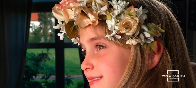 decoracion para comuniones con flores preservadas niña - verdissimo