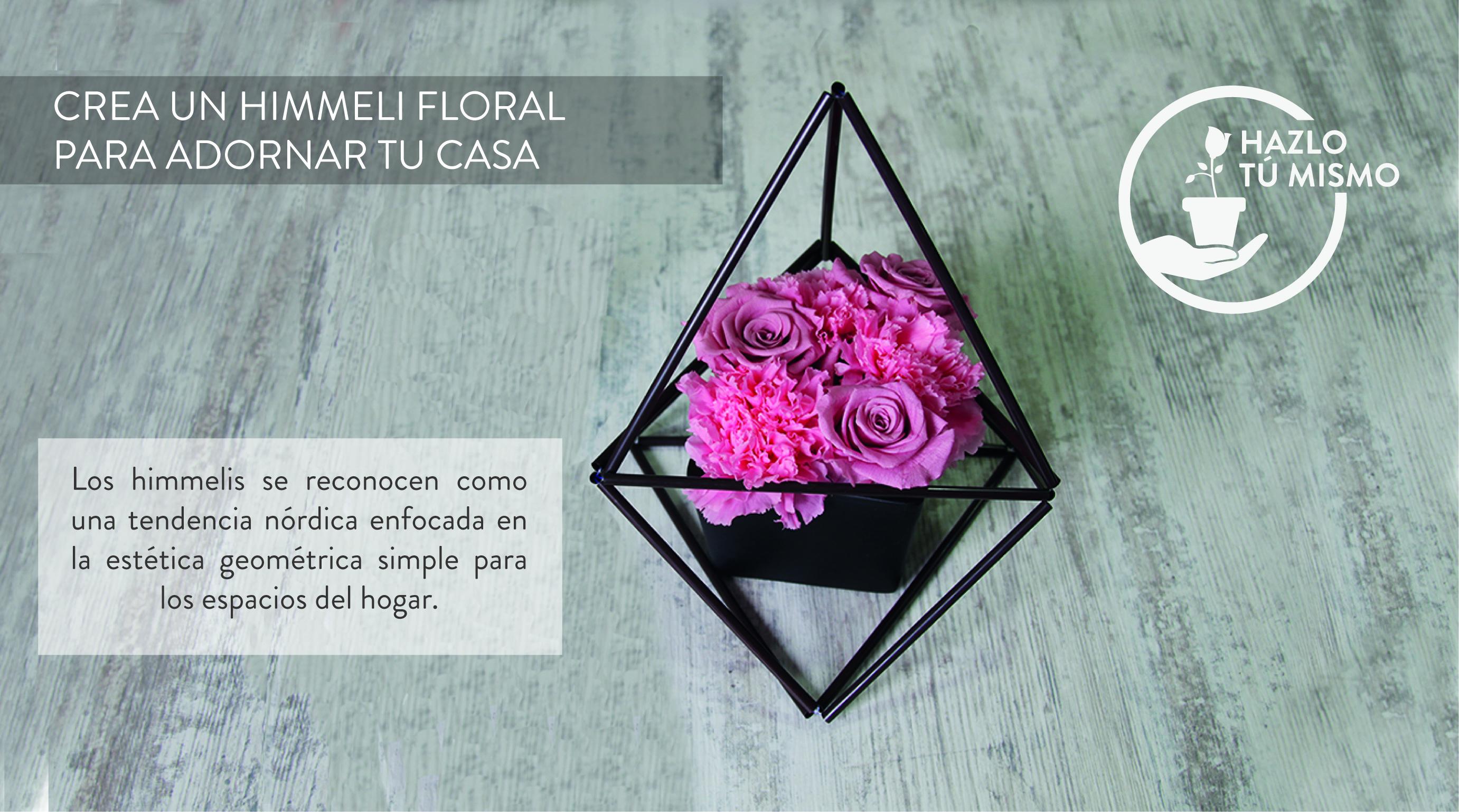 Himmeli floral para adornar tu casa - DIY - Verdissimo