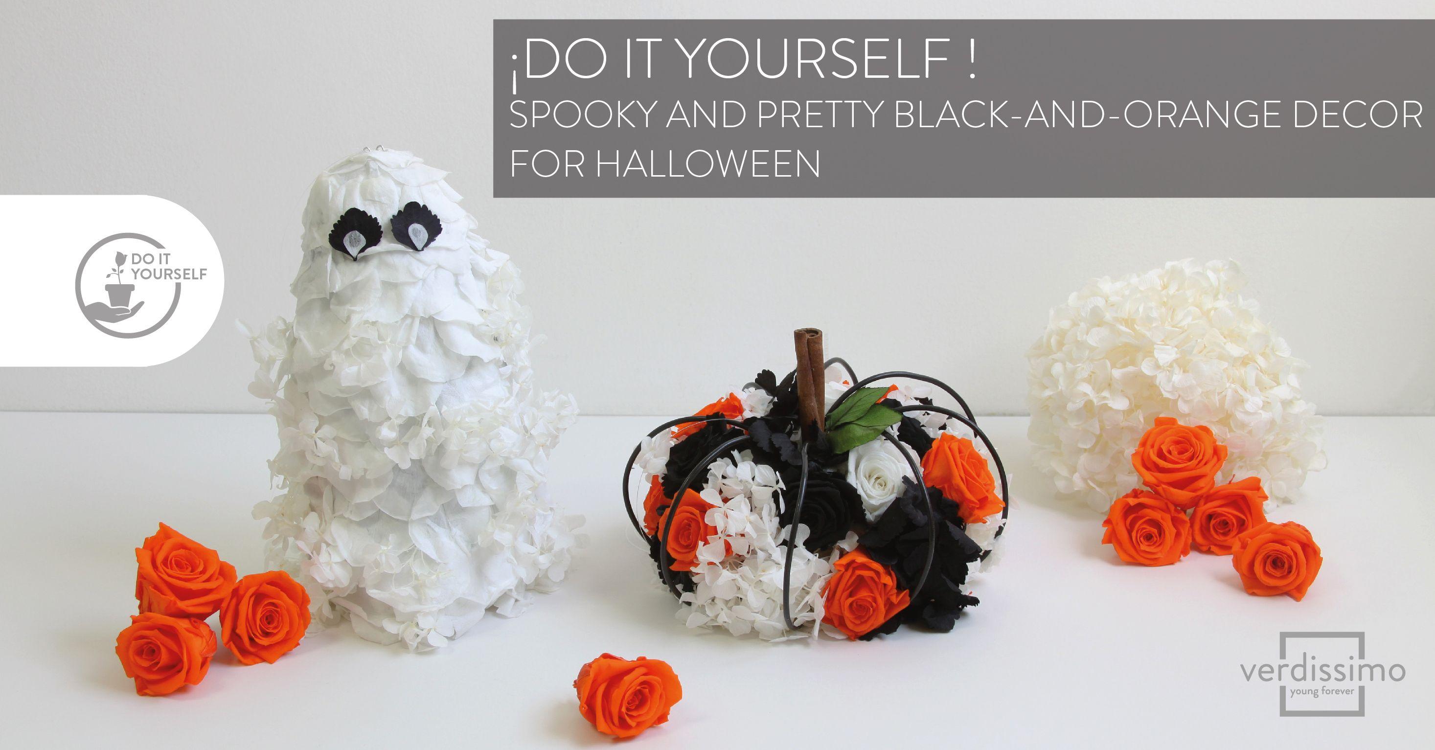 Do it yourself! Spooky and pretty black-and-orange decor for Halloween - Verdissimo