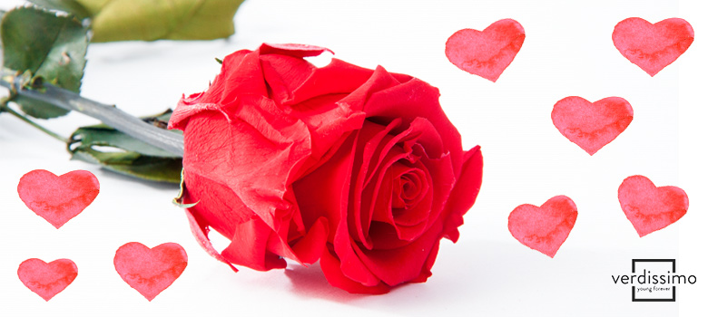 Blumenarrangements zum Valentinstag - Verdissimo