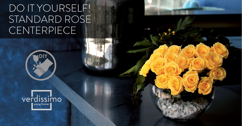Do it yourself! Standard Rose Centerpiece - Verdissimo