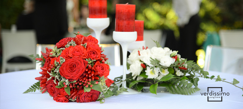 red rose centerpieces - verdissimo