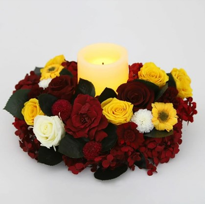 Candle with flowers - Verdissimo