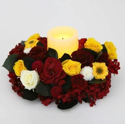 Vela con flores - Verdissimo