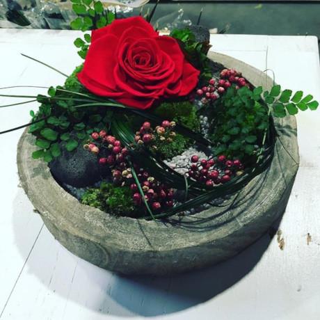 centro de rosas rojas - verdissimo