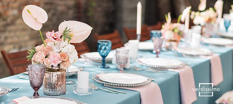 Tischdekorationen mit kreativen und ausgefallenen Blumen - Verdissimo