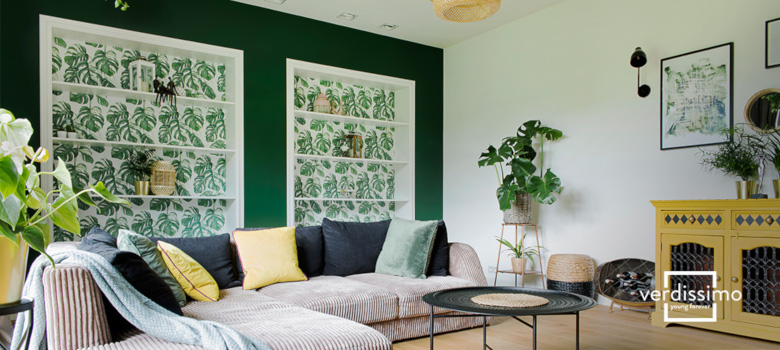 dekoration mit der farbegrun - verdissimo