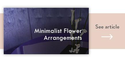 cta minimalist flower arrangements - verdissimo