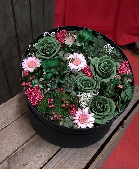 hatbox con flores que te enamoraran img1 - verdissimo