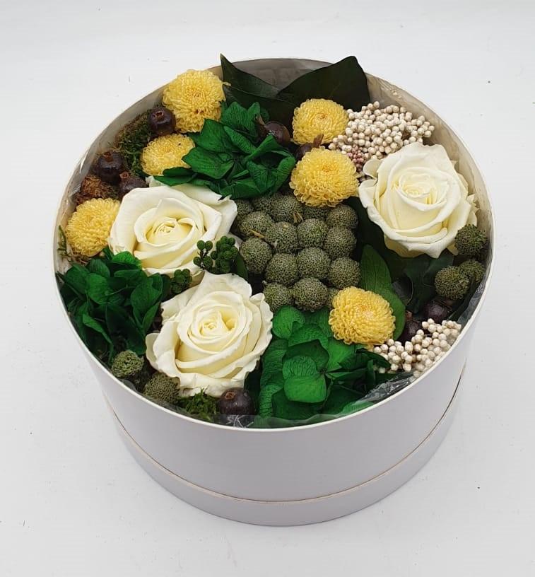 hatbox con flores que te enamoraran img3 - verdissimo