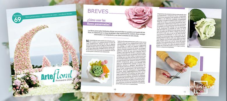 reportaje en la revista de arte floral oasis - verdissimo