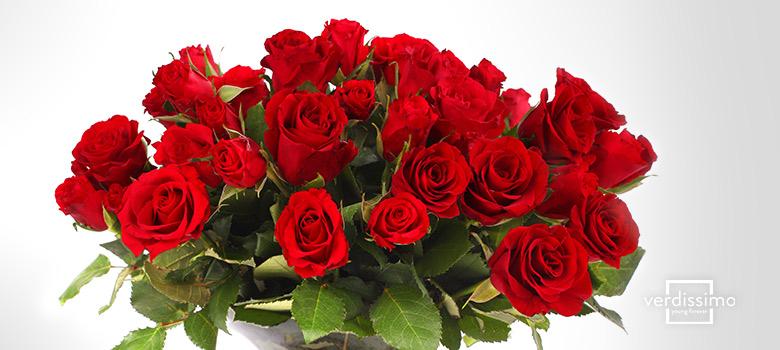 Simbología del número de rosas en un ramo - Verdissimo