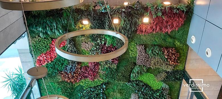 Decoración con flores artificiales y preservado - Verdissimo