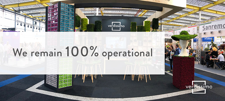 We remain 100% operational in 2020 - Verdissimo