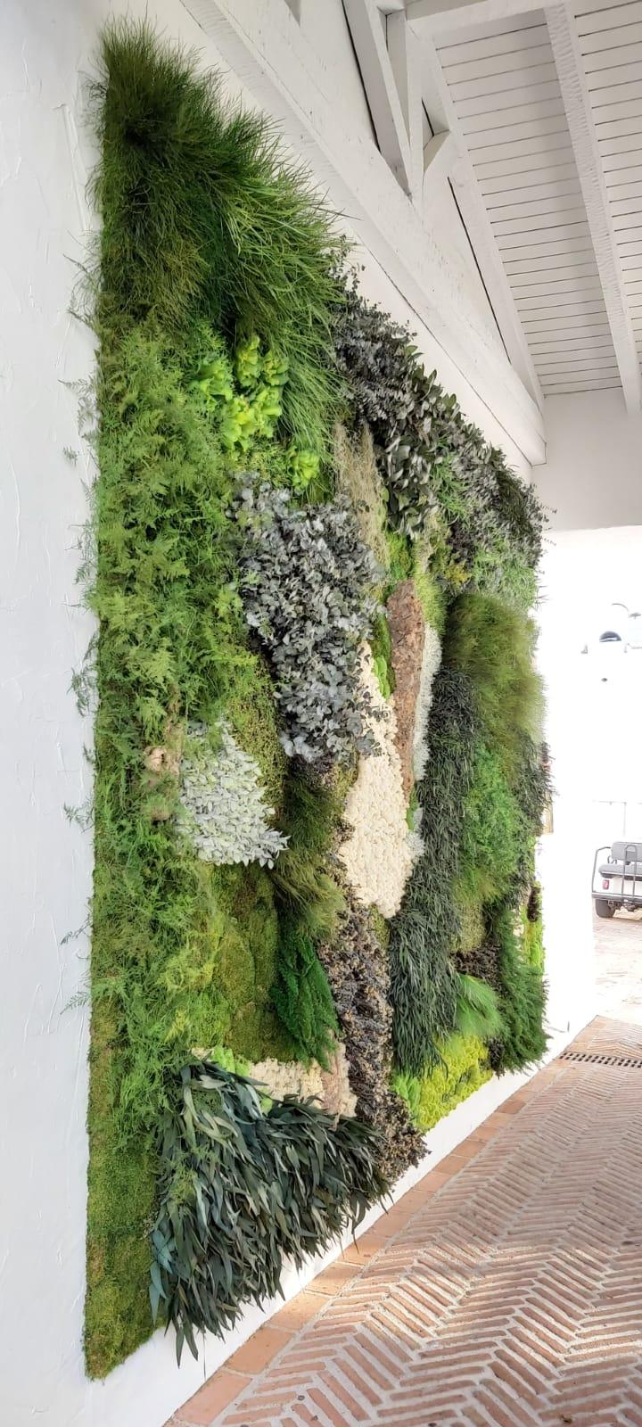 Verdes preservados y flor artificial - Verdissimo