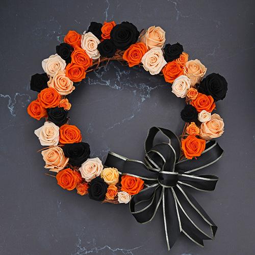 Corona de Rosas para Halloween - Verdissimo
